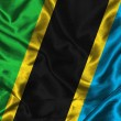 Royalty-Free Stock Photo: Silk Flag of Tanzania