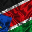 Silk Flag of South Sudan — Stockfoto