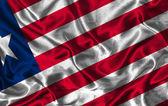 Silk Flag of Liberia — Stock Photo