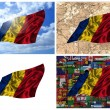 Waving colorful Romania flag collage — Stock Photo #14796355