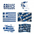 Greek flag collage — Stock Photo