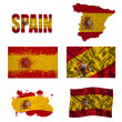 Spanish flag collage — Stock Photo
