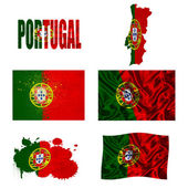Portuguese flag collage — Stock Photo
