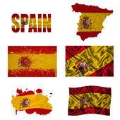 Spanish flag collage — Stock Photo
