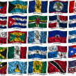 Waving colourful North America flags — Stock Photo #15898159