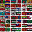 Waving colourful Asia flags — Stock Photo #16205325