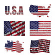 Royalty-Free Stock Photo: American flag collage