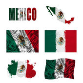 Mexican flag collage — Stock Photo