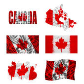 Canadian flag collage — Stock Photo