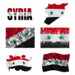 Stock Photo: Syriflag collage