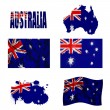 Stock Photo: Australiflag collage