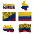Stock Photo: Colombiflag collage