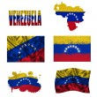 Stock Photo: Venezuelflag collage