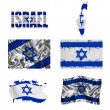 Stock Photo: Israeli flag collage