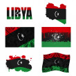 Libyan flag collage — Stock Photo