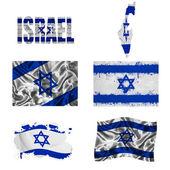 Israeli flag collage — Stock Photo