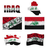 Iraqi flag collage — Stockfoto
