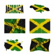Stock Photo: Jamaicflag collage