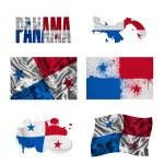 Panamanian flag collage — Stock Photo #16797357