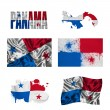 Stock Photo: Panamaniflag collage