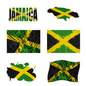 Jamaican flag collage — Stock Photo