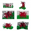 Stock Photo: Welsh flag collage