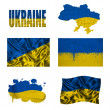 Stock Photo: Ukrainiflag collage