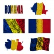 Romanian flag collage — Stock Photo #16856885
