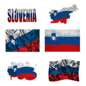 Slovenian flag collage — Stock Photo