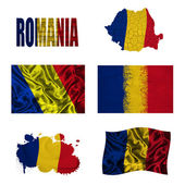 Romanian flag collage — Stock Photo