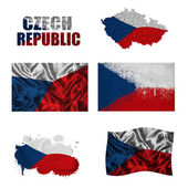 Czech flag collage — Stock fotografie