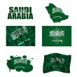 Stock Photo: Saudi Arabiflag collage