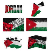 Jordan flag collage — Stock Photo