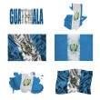 Stock Photo: Guatemalflag collage