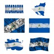 Stock Photo: Nicaraguflag collage