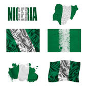 Nigerian flag collage — Stock Photo