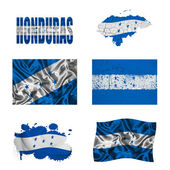 Honduran flag collage — Stock Photo