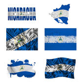 Nicaraguan flag collage — Stock Photo