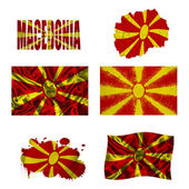 Macedonian flag collage — Stock Photo