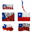Chilean flag collage — Stock Photo