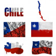 Stock Photo: Chileflag collage