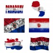 Stock Photo: Paraguayflag collage
