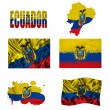 Ecuadoran flag collage — Stock Photo