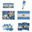 Stock Photo: Argentineflag collage
