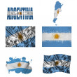 Argentineflag collage — Stock Photo #17022897