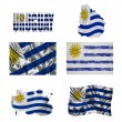 Uruguayflag collage — Stock Photo #17023093
