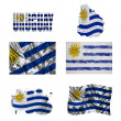 Stock Photo: Uruguayflag collage