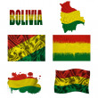 Stock Photo: Boliviflag collage