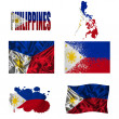 Philippine flag collage — Foto de Stock