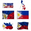 Stock Photo: Philippine flag collage